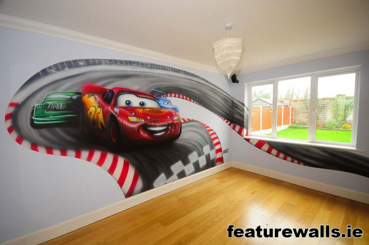 Kids Murals Childrens Rooms Decorating Kids Rooms Super Hero - Boys car wallpaper designs