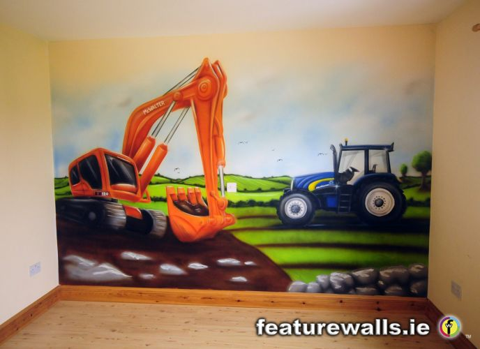 Kids murals childrens rooms decorating kids rooms super for Boys wall mural