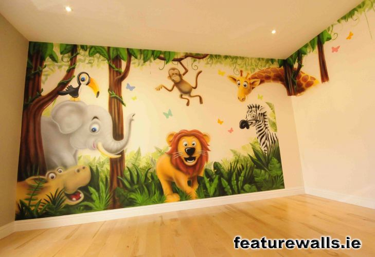 Nursery murals toddler murals baby rooms baby designs for Children s room mural
