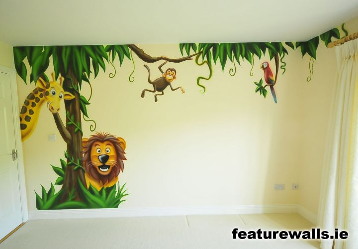 Comkids Rooms Murals : Pics Photos - Jungle Bedroom Wall Mural For Kids Jungle Bedroom Wall