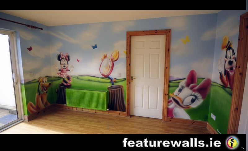 Fairy princess girls bedrooms fairytale mural pink for Club joven mural