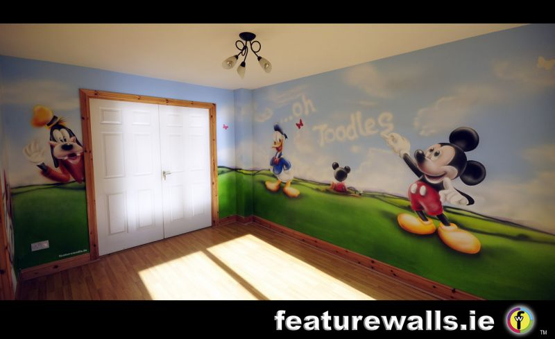 Fairy Princess S Bedrooms Fairytale Mural Pink 111 Mickey Mouse Disney  Wallpaper Wall Mural Part 78