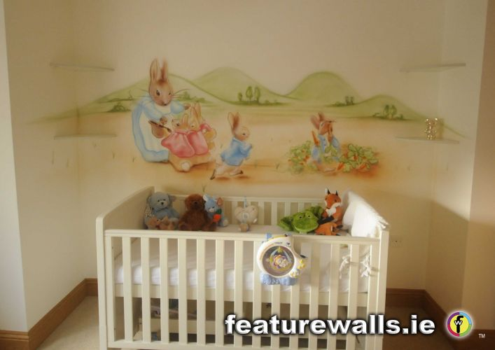 Superb PETER RABBIT NURSERY MURAL Part 4