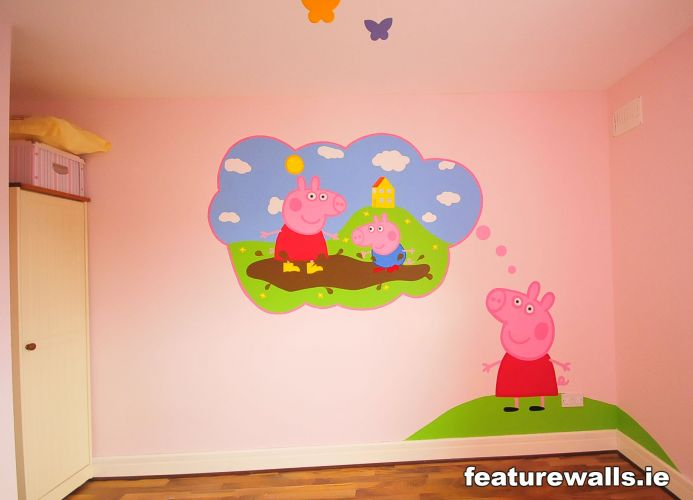 Peppa Pig Muddy Puddle Mural Part 17