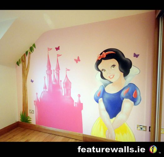 Fairy Princess Girls Bedrooms Fairytale Mural Pink