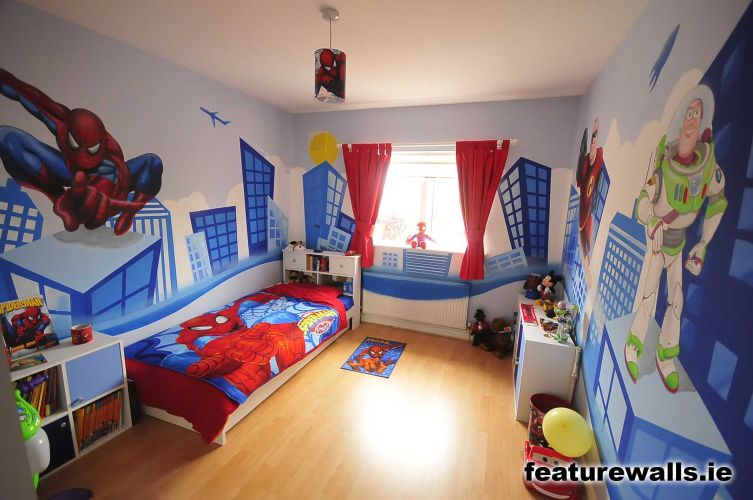 Kids murals childrens rooms decorating kids rooms super for Boys room mural