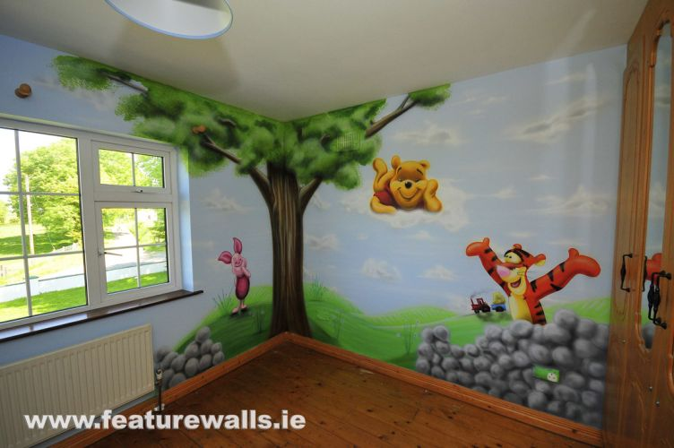 Kids murals childrens rooms decorating kids rooms super for Baby boy mural ideas