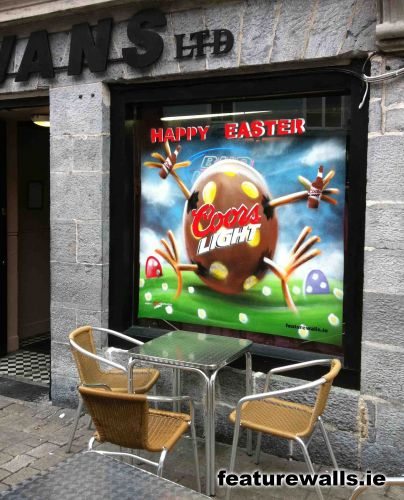 Easter Window For Coors Light