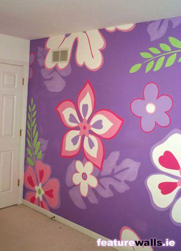 رســــــم عالجدران رووووووووعة بيتج مميز t2_floweral_bedroom_