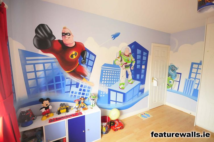 Superhero Wall Murals